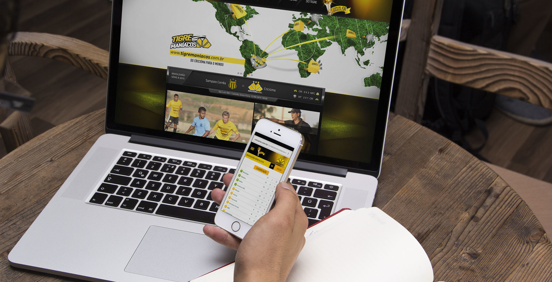Website mobile Criciúma Esporte Clube