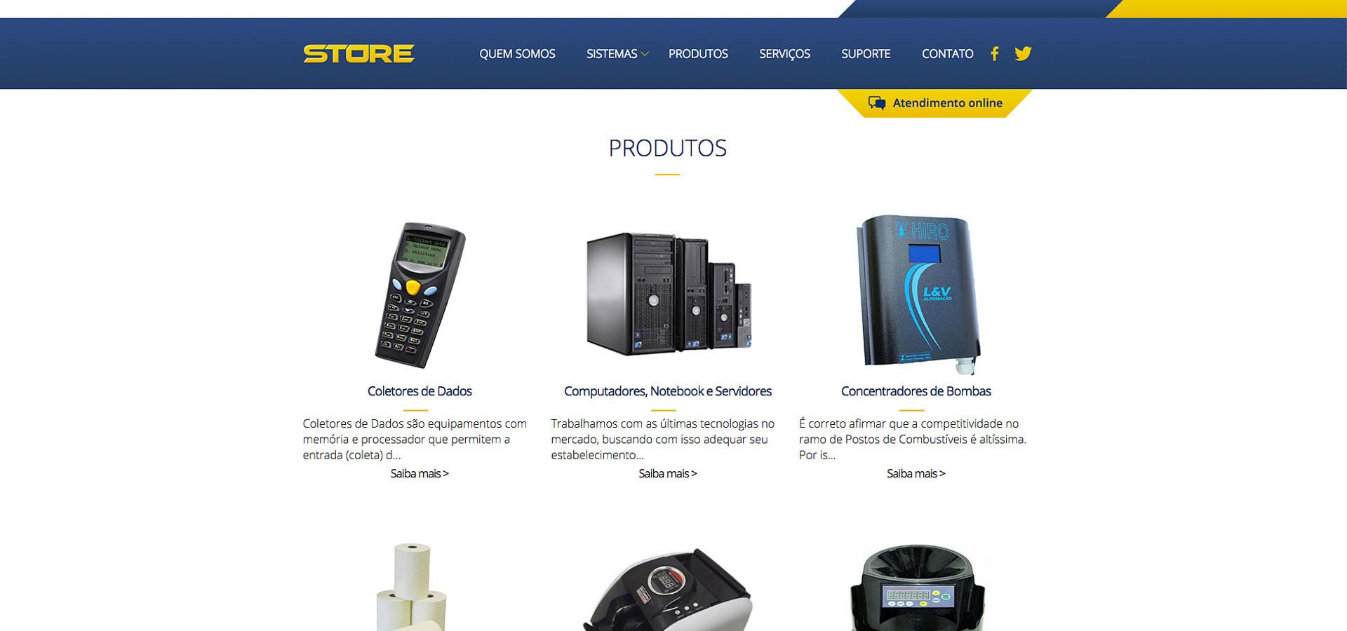 Produtos site Store Computer by Neurodigital